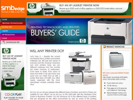 SMBedge: HP Business Printer Buyers' Guide