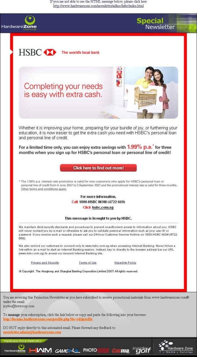 HSBC SG eDM