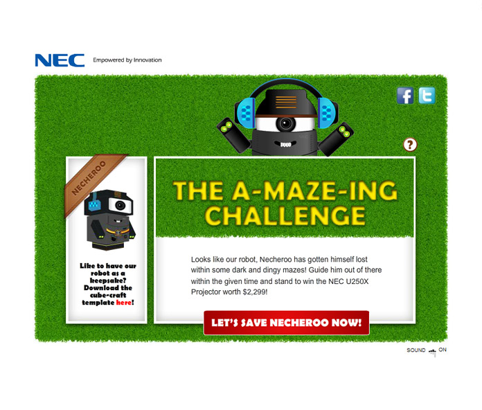 NEC 'The a-MAZE-ing Challenge'