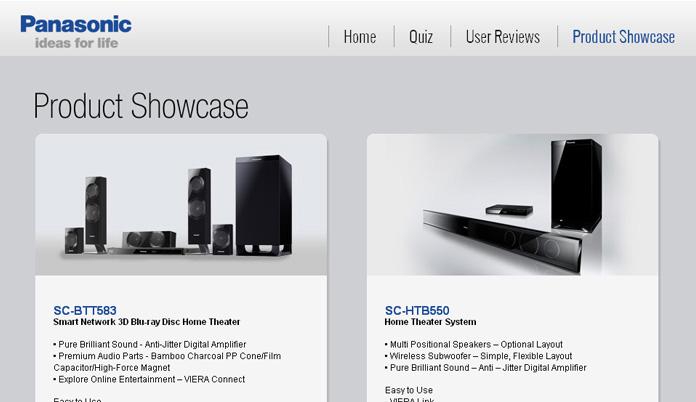 Saatchi Panasonic AV Products