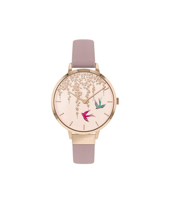 Sara Miller London 34mm Women's Swallow rose gold pink watch, $185, [B]aptimos[/B]