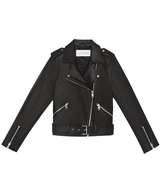 Women's moto jacket, $319, [B]Calvin Klein Jeans[/B]