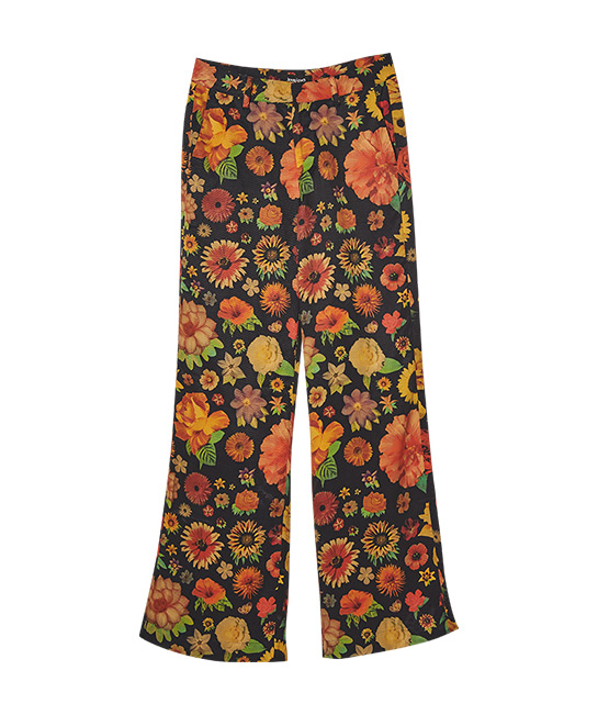 Flared floral trousers, $229, Mr. Christian Lacroix X Desigual Collection, [B]Desigual[/B]