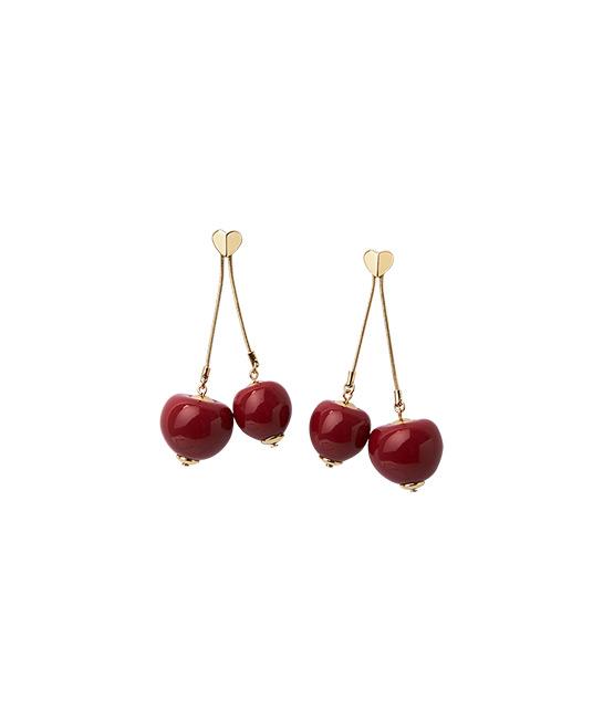 Tutti Fruity Cherry Linear Earrings, $180, [B]Kate Spade[/B]