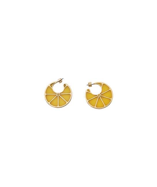 Tutti Fruity lemon hoop earrings, $150, [B]Kate Spade[/B]