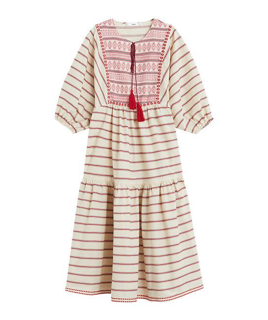 Embroidery striped dress, $99.90, [B]Mango[/B]