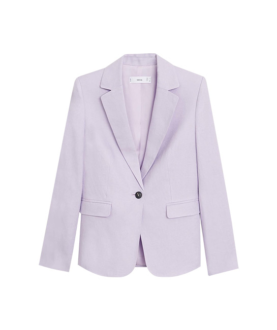 Linen blazer, $89.90, [B]Mango[/B]