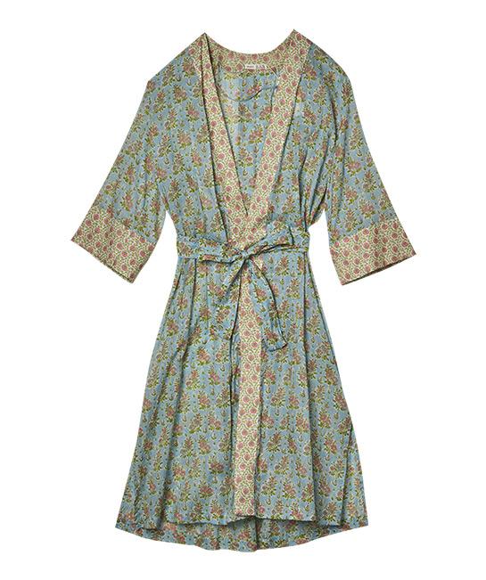 Floral cotton bathrobe, $99.90, [B]OYSHO[/B]