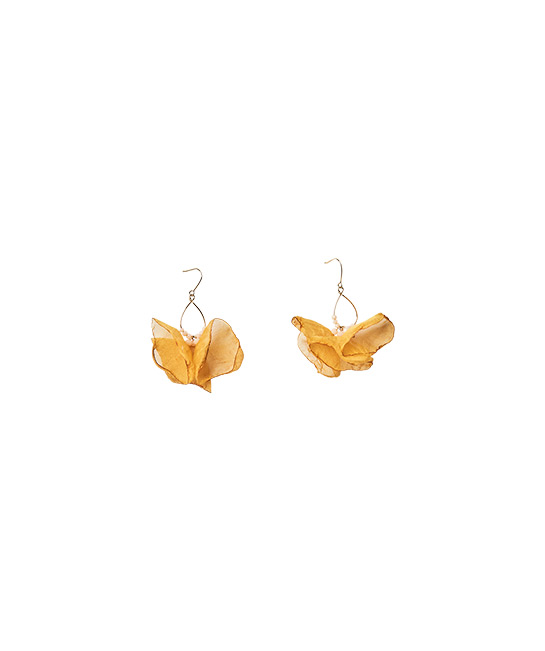Floral earrings, $12.90, [B]The Green Party[/B]