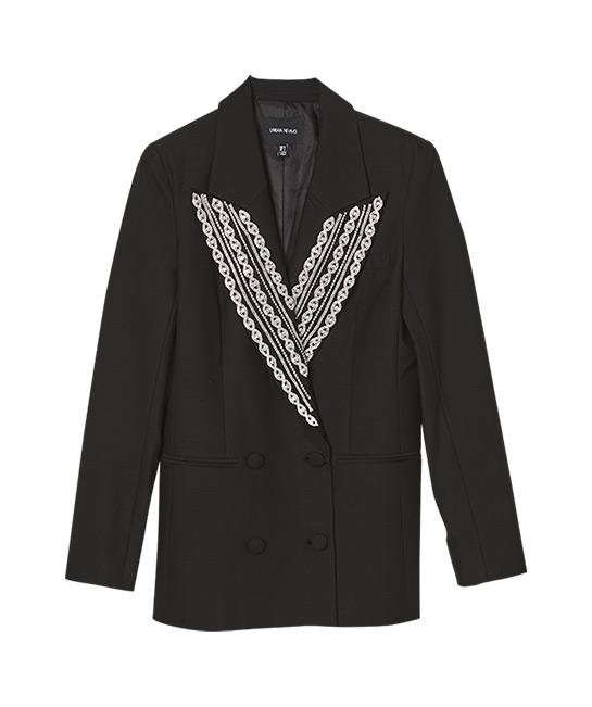 Blazer with jewelled lapel, $199, [B]Urban Revivo[/B]