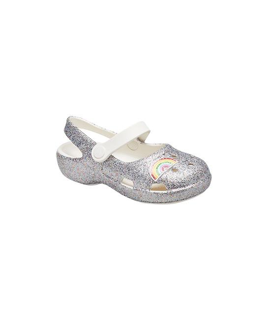 Kids Classic Glitter Mary Jane with rainbow, $54.95, [B]Crocs[/B]