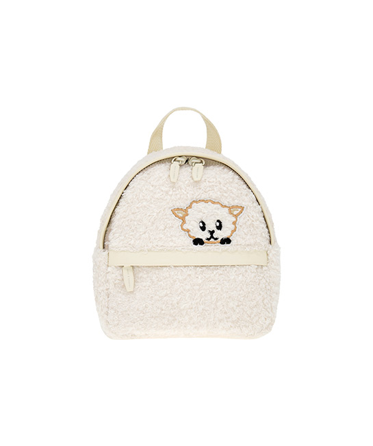 Girls' lamb motif furry backpack, $45.90, [B]CHARLES & KEITH[/B]