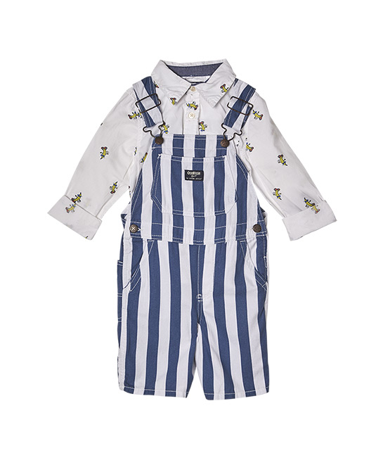 OshKosh B'gosh Skating Bananas shirt, $49.90, and striped shortalls, $59.90, [B]carter's®[/B]