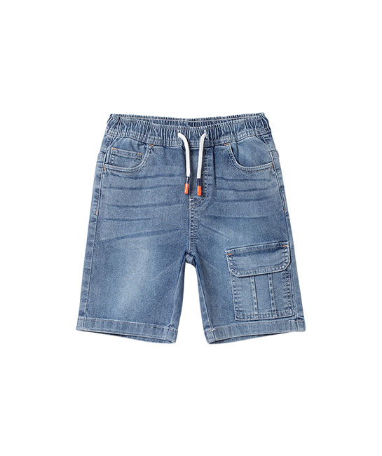 Denim shorts with neon stitching, $43.90, [B]bossini[/B]