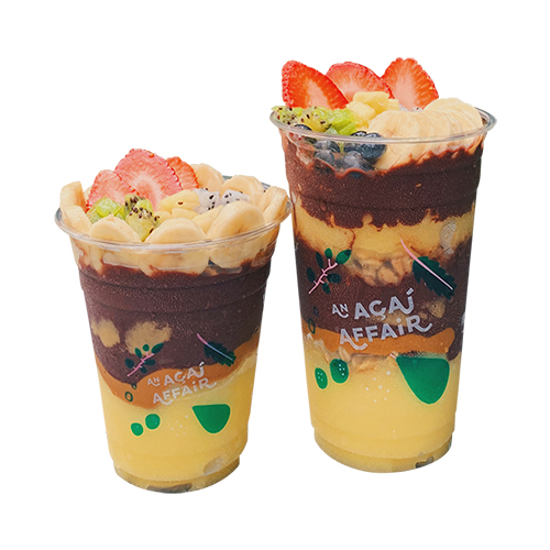 [B]An Acai Affair[/B] [BR] Filled to the brim with açai, mango sorbet and fresh fruit toppings, the Mango Tango, from $10.10, is a taste of tropical heaven!