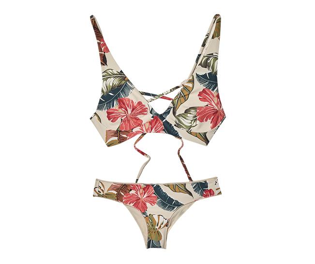 Tropic Coast plunge bikini top, $59.90, and Revo bikini bottom, $49.90, [B]Rip Curl[/B]