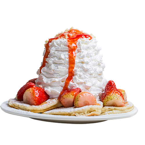 [B]Eggs 'n Things[/B] [BR] Kids with a sweet tooth and a big appetite will love this dessert: light, fluffy pancakes, $16.90, topped with fresh strawberries, macadamia nuts and signature whipped cream made with fresh milk only.
