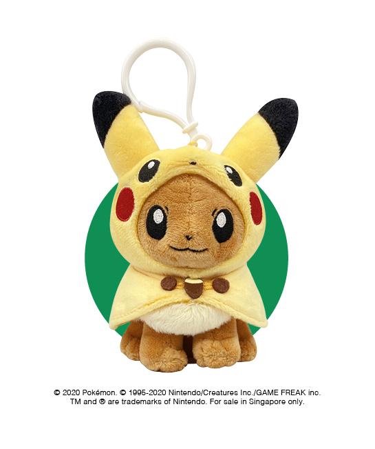 Eevee Poncho Pikachu Plush Keychain at $12