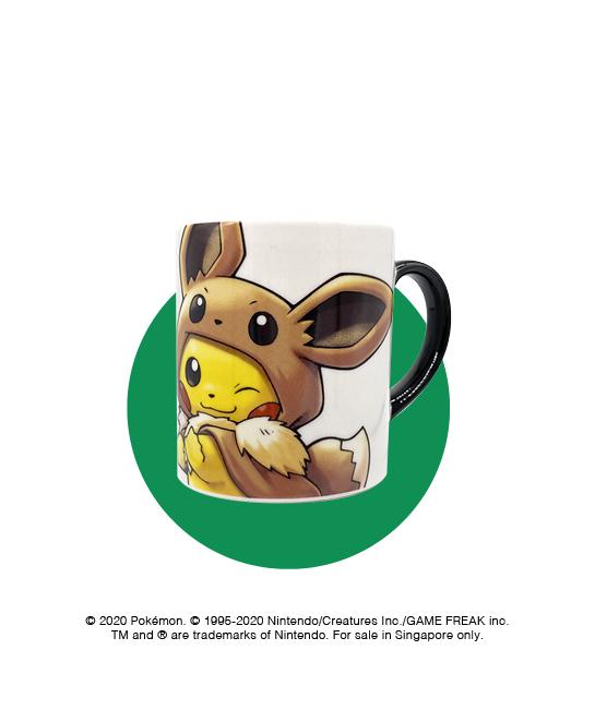 Fan of Pikachu & Eevee Mug at $12
