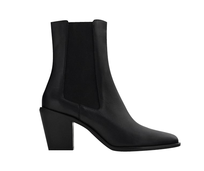 Leather Heeled Cowboy Ankle Boots, $169,[B] ZARA[/B]